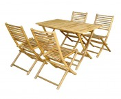 005-BD-1813  RATTAN TABLE SET/5